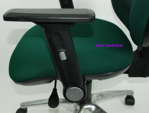 ESE chair Green fabric base and back 16a