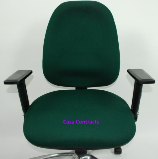 ESE chair Green fabric base and back 9a
