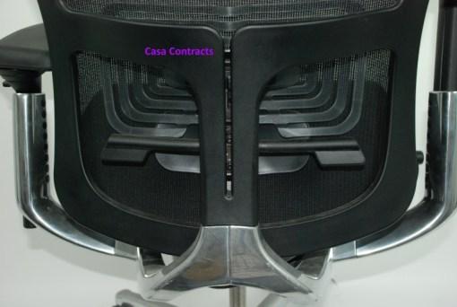Haworth Zody chair Black fabric base Black mesh back 18