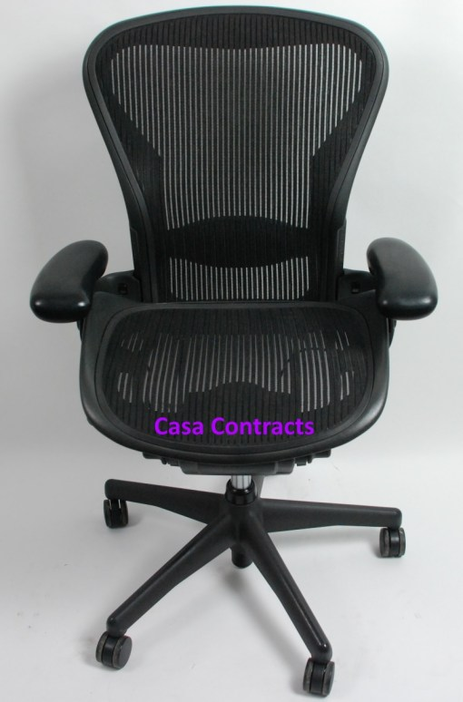 Herman Miller Aeron chair mesh base and back 1b