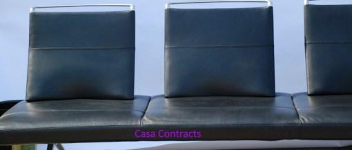 Vitra Area sofa 3 seater black leather 2