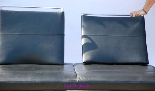 Vitra Area sofa 3 seater black leather 6