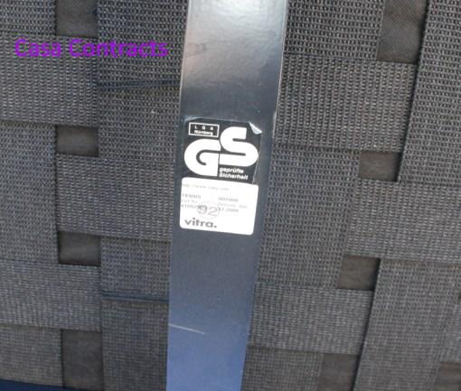 Vitra Area sofa 3 seater black leather 9