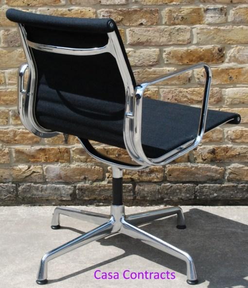 Vitra Eames EA108 Black Hopsak Aluminium Group Chair 4