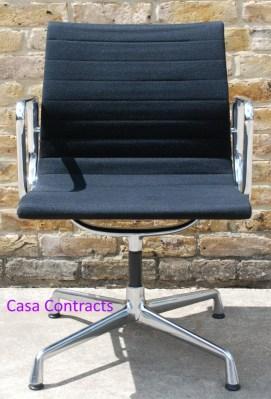 Vitra Eames EA108 Black Hopsak Aluminium Group Chair 6