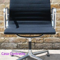 Vitra Eames EA108 Black Hopsak Aluminium Group Chair 6