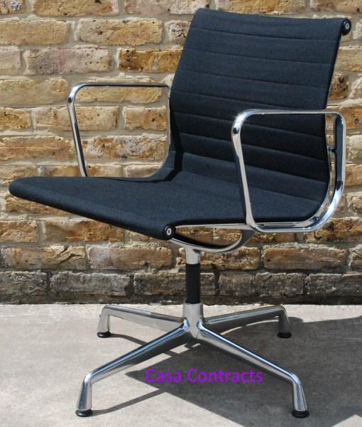 Vitra Eames EA108 Black Hopsak Aluminium Group Chair 7