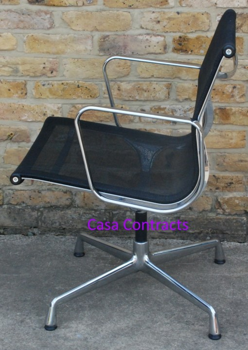 Vitra Eames EA108 Aluminium Chair Black Mesh 4