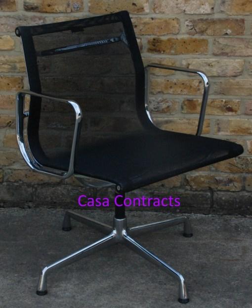 Vitra Eames EA108 Aluminium Chair Black Mesh 9