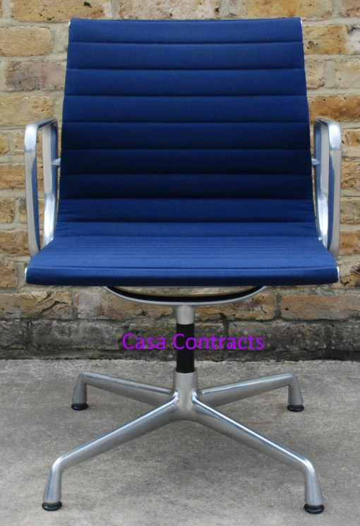 Vitra Eames EA108 Blue Hopsak Aluminium Group Chair 1