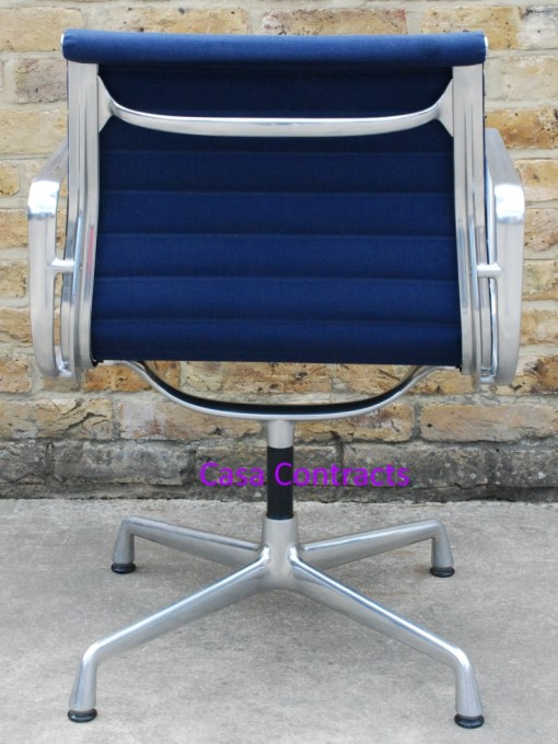 Vitra Eames EA108 Blue Hopsak Aluminium Group Chair 4
