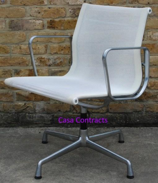 Vitra Eames EA108 White Mesh Aluminium Group Chair 6