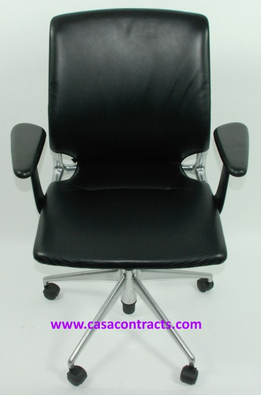 Vitra Meda chair leather adjustable arms 2a