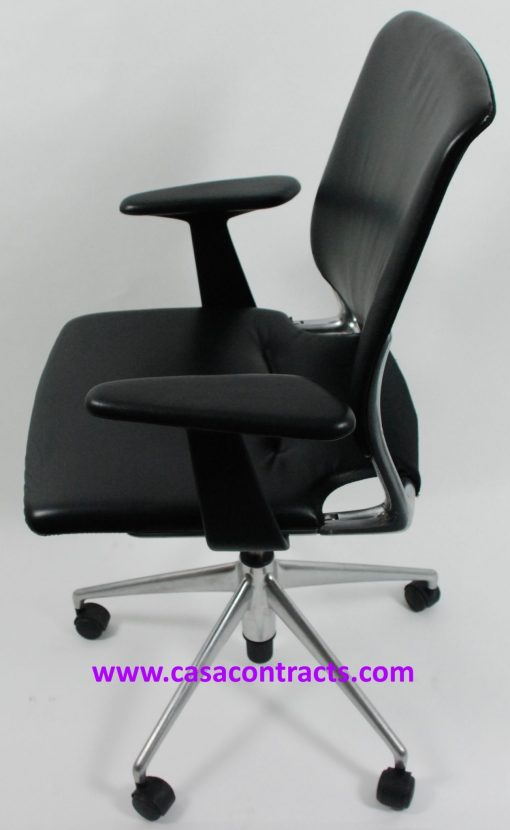 Vitra Meda chair leather adjustable arms 3a