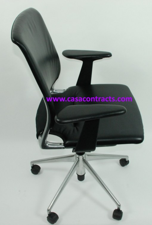 Vitra Meda chair leather adjustable arms 5b