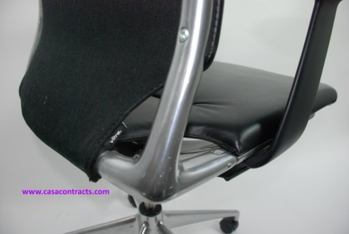 Vitra Meda chair leather adjustable arms 9a