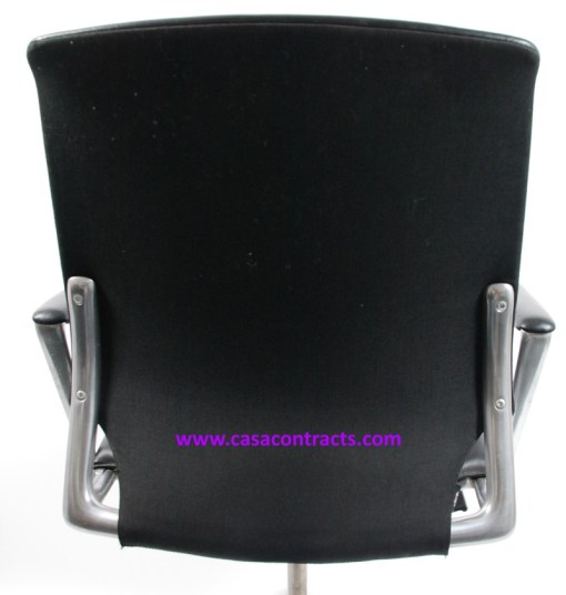 Vitra Meda chair leather fixed arms 14a