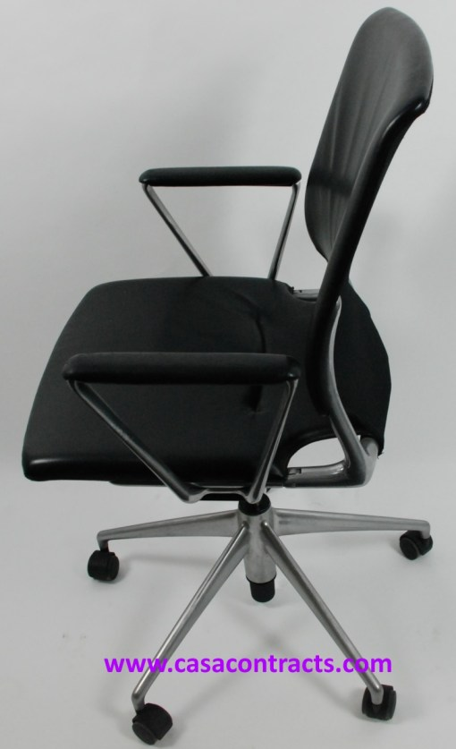 Vitra Meda chair leather fixed arms 3a