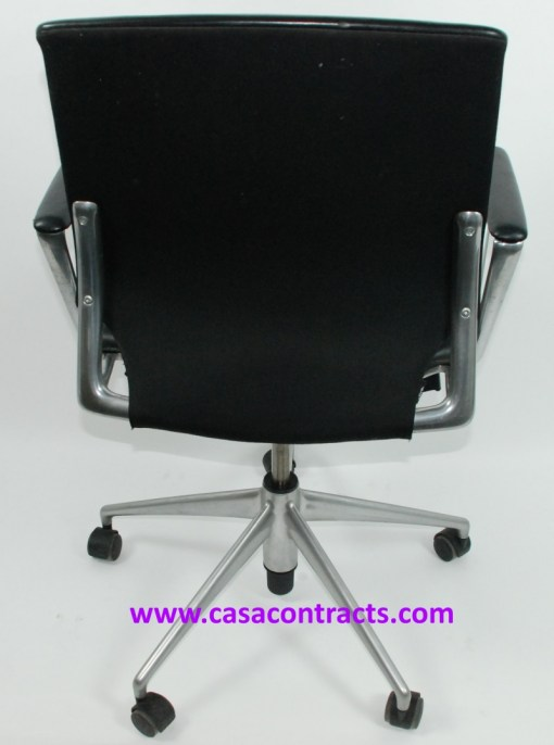 Vitra Meda chair leather fixed arms 4a