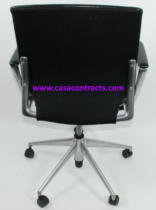 Vitra Meda chair leather fixed arms 4b