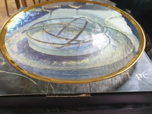 Gold Lined Grained Glass Tableware photo review