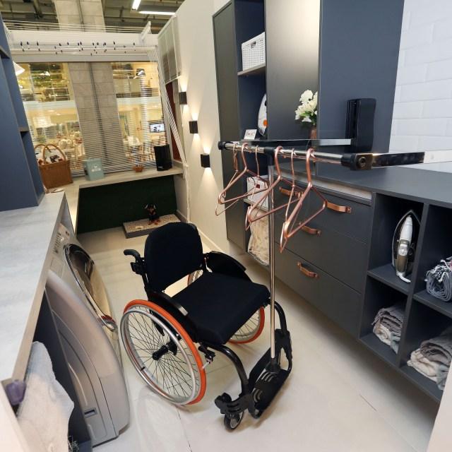 Mostra Lar Center de Arquitetura e Design Universal – Ambiente Área de serviço – Profissionais Saulo Barbosa e Carol Francatto