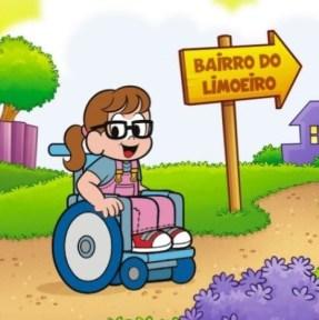 livro personalizado cadeira de rodas turma da monica