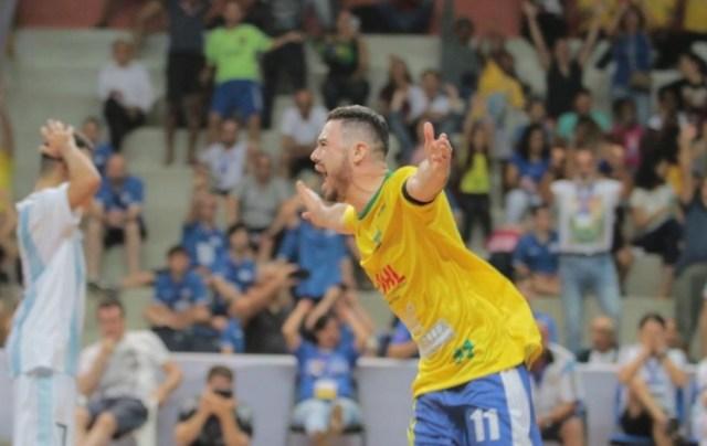 Com show de Renato, Brasil venceu Argentina na final do Mundial de Futsal Down — Foto: FL Piton/Prefeitura Municipal Ribeirão Preto