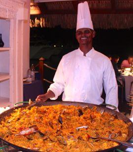 seafood paella at La Casita in the Marina Casa de Campo