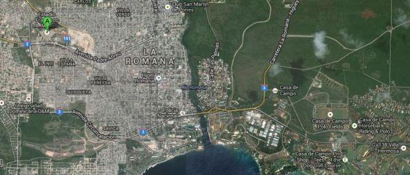 La Romana map