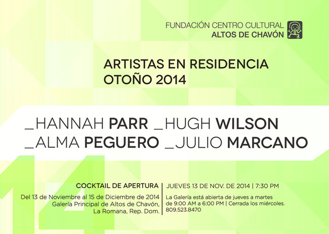 Artists In Residence 2014