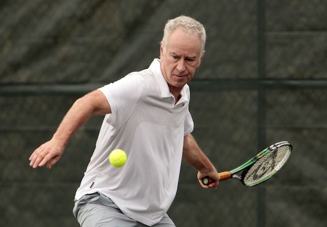 McEnroe and Courier offer an Exhibition tenis match in Casa De Campo, La Romana