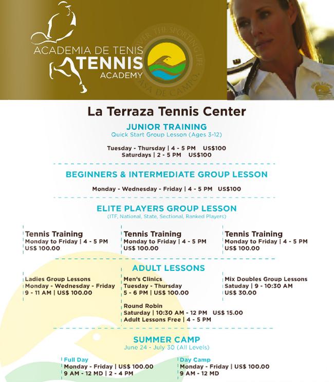Casa de Campo tennis academy