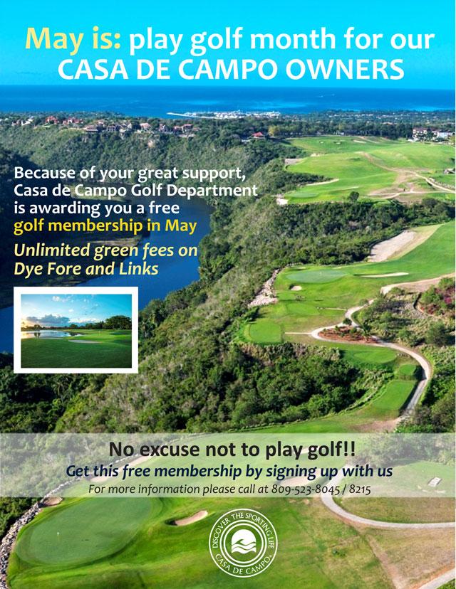 Casa de Campo villa owners golf membership