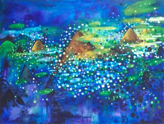 "De la serie ""Almost Paisaje"", Acrylic on canvas, 60"" x 100"", 2015"