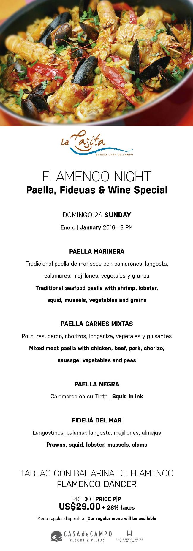 Noche de Paellas at La Casita FINAL