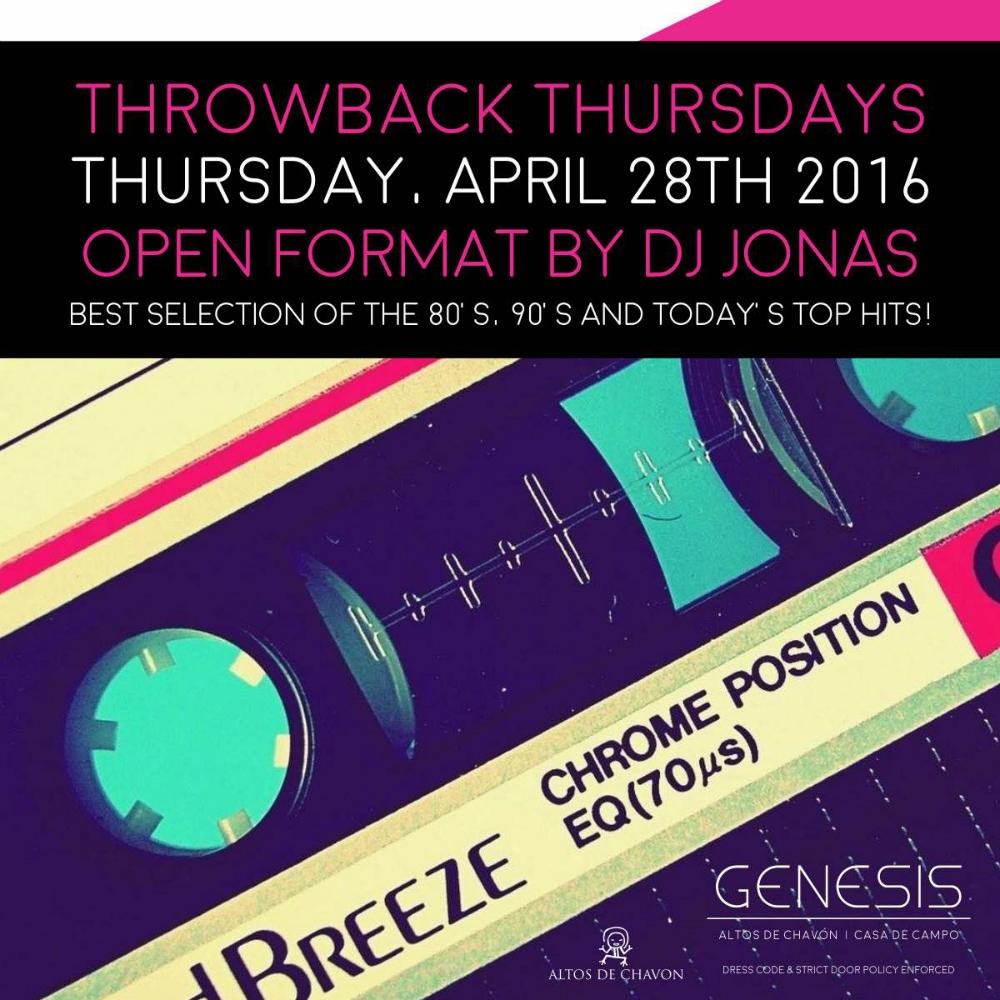 Throwback Thursday at Genesis Nightclub April 28