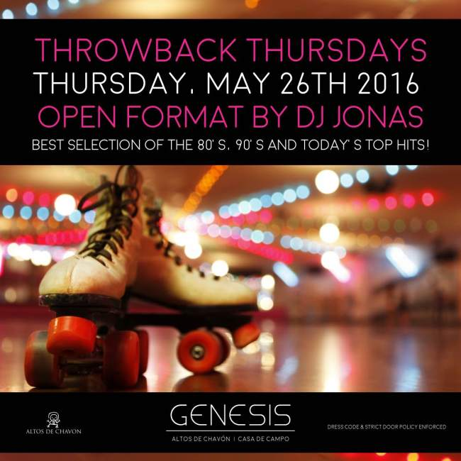 Throwback Thursday May 26 Flyer Genesis