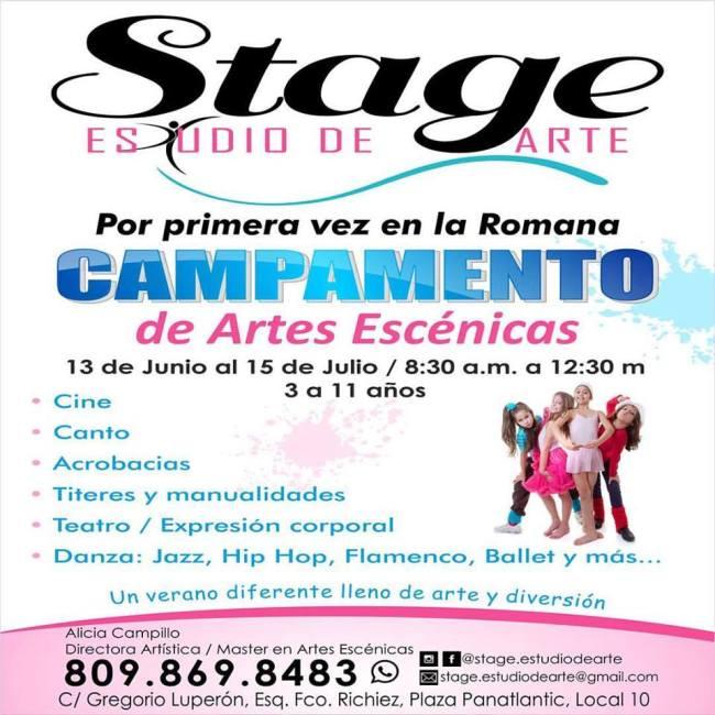 Campamento de Verano de Stage Estudio de Arte Flyer
