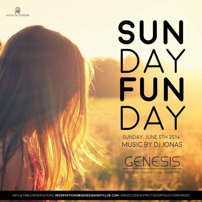 Genesis Nightclub Sunday Funday June 5