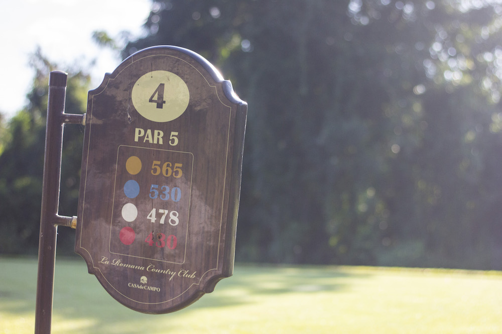 La Romana Country Club hole 4 Golf tips