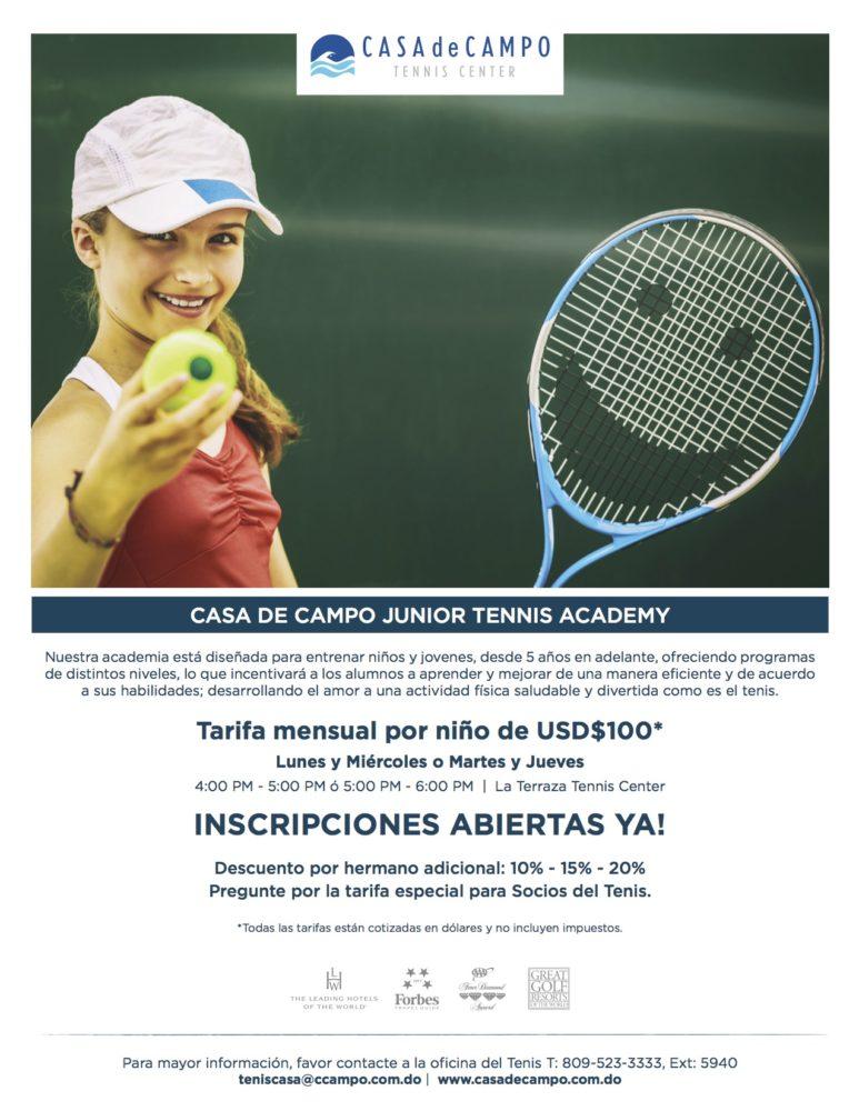 Jr. Tennis Academy Casa de Campo