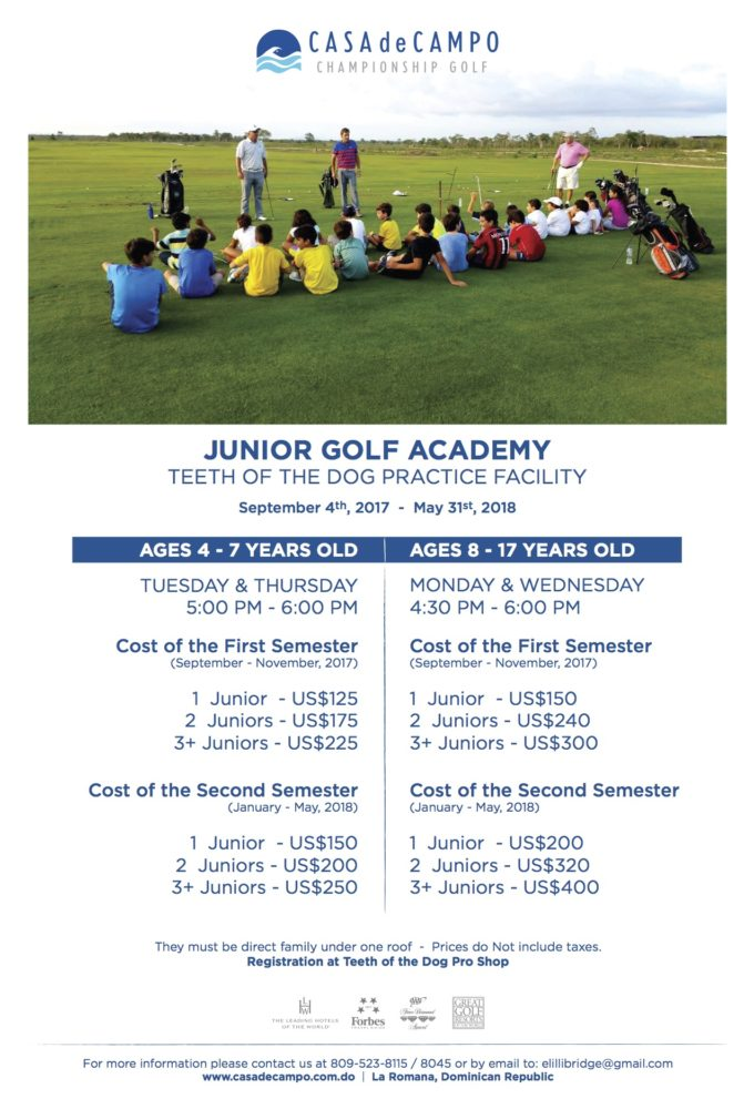 Junior Golf Academy 2017-2018
