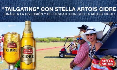 Stella Artois Cidre tailgating
