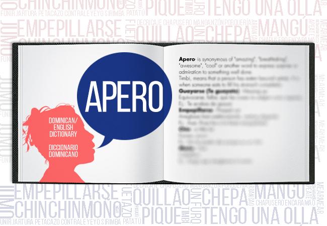Dominican English Dictionary: Apero