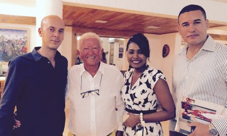 Adolfo Despredel,Rudi Spadafora , Margarita Guerrero y el Senor Troncoso