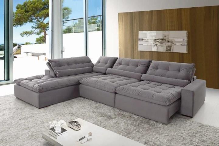 Clique Aqui Para Ampliar Confortable Sofá De Canto 5 Lugares Retrátil