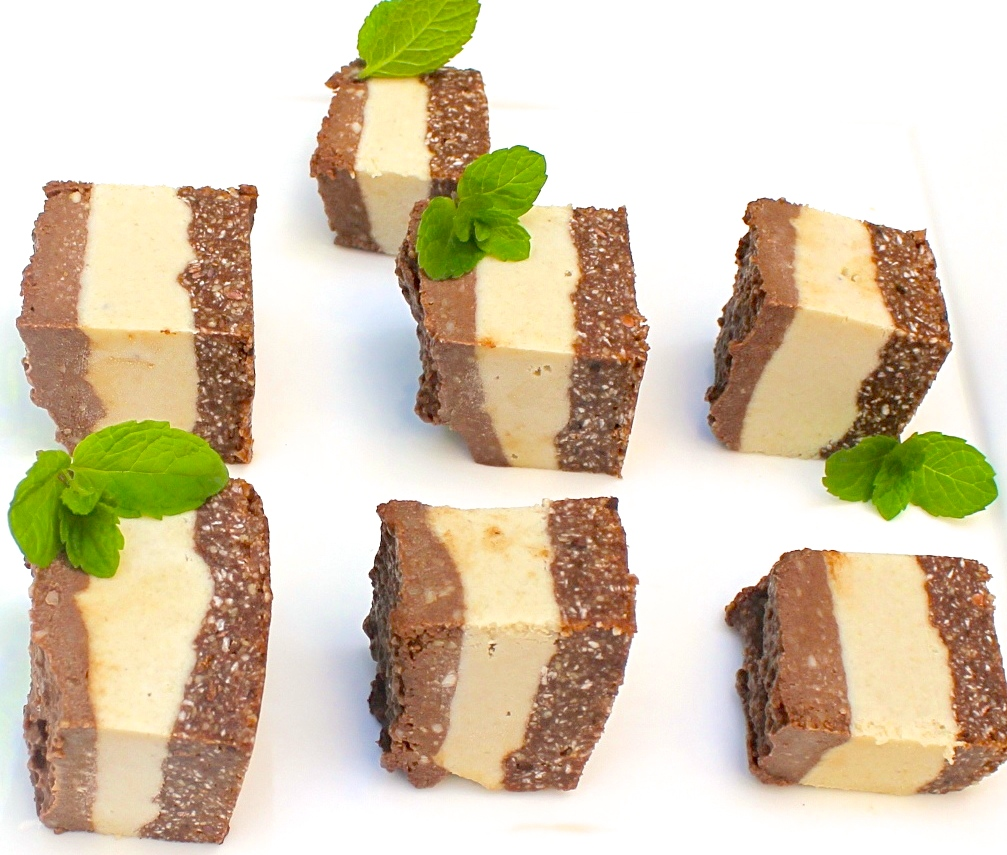 raw vegan chocolate mint slice instagram