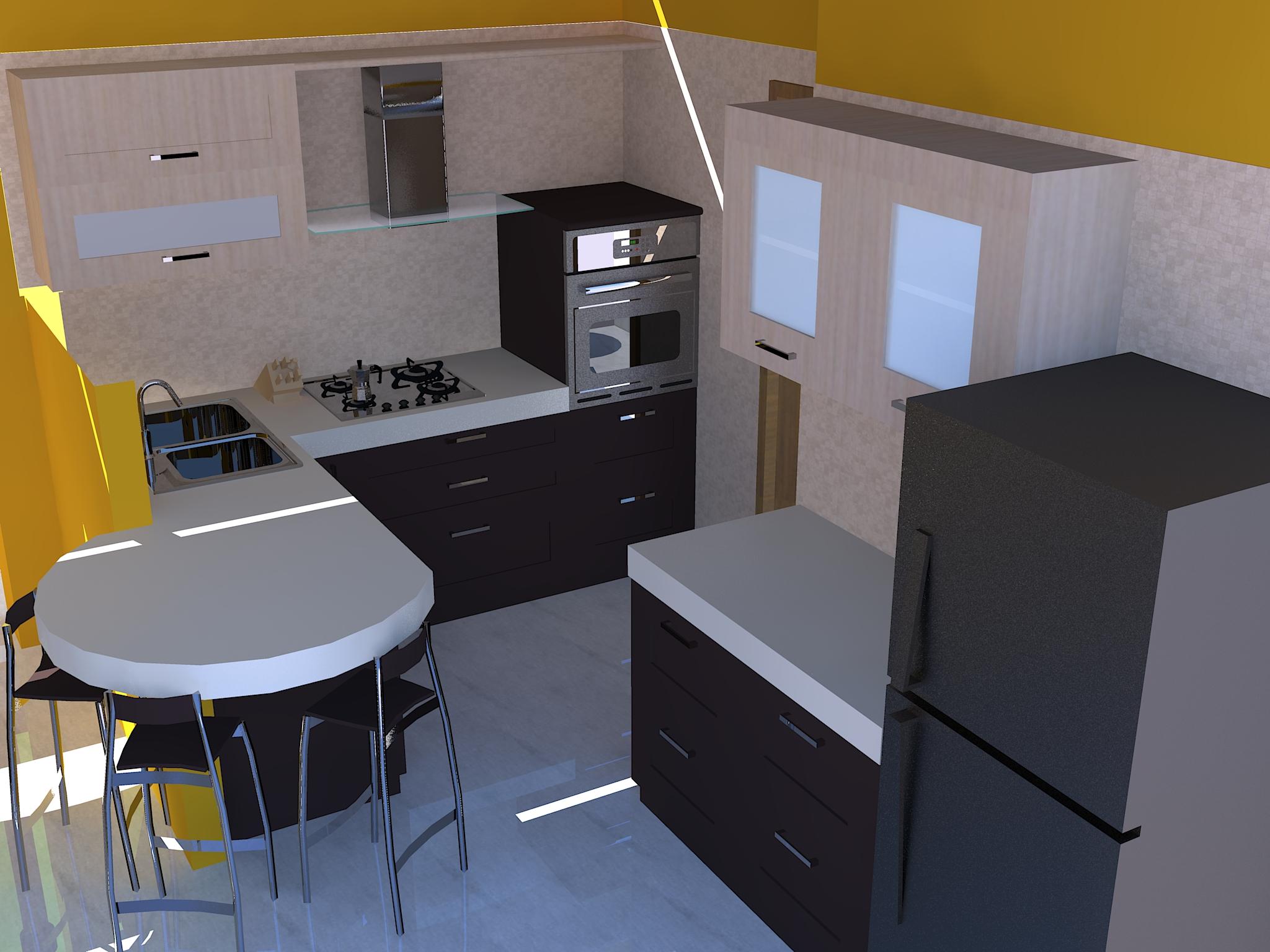Soggiorno con angolo cottura  Casa Design