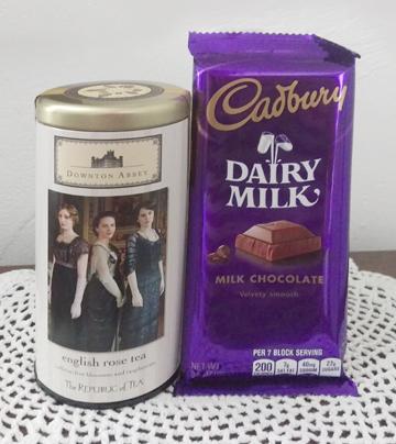 Keepsake Downton Tea Canister and Cadbury Chocolate